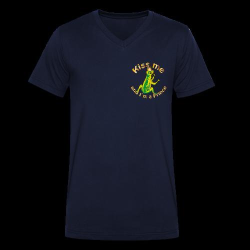 Frog King Shirt - Männer Bio-T-Shirt mit V-Ausschnitt von Stanley & Stella