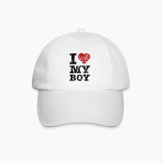 """I Love my Boy"" vintage dark Caps & Hats"