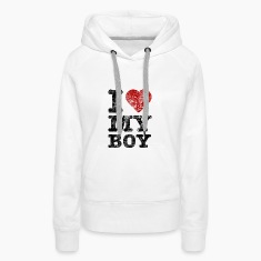 """I Love my Boy"" vintage dark Hoodies & Sweatshirts"