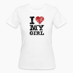 """I Love my Girl"" vintage dark T-Shirts"
