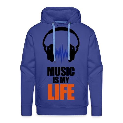 Music is my life Hoodie - Hoodie - Premium hettegenser for menn
