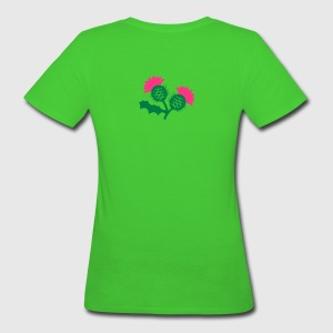 scottish thistle flower with two heads T-Shirts - Women's Organic T-shirt