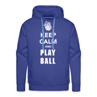 Sweat-shirt à capuche Premium pour hommes avec motif Keep Calm and Play Basketball