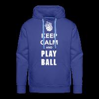 Männer Premium Hoodie mit Motiv Keep Calm and Play Basketball