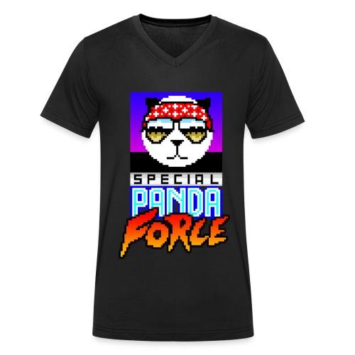 Funky Panda - Special Panda Force (V-Neck) - Men's Organic V-Neck T-Shirt by Stanley & Stella