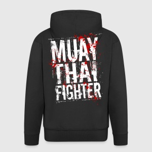 Muay Thai fighter blanc Sweat-shirts - Veste à capuche Premium Homme
