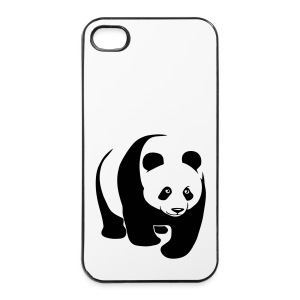 tier t-shirt panda teddy bär bärchen süß niedlich gesicht - iPhone 4/4s Hard Case