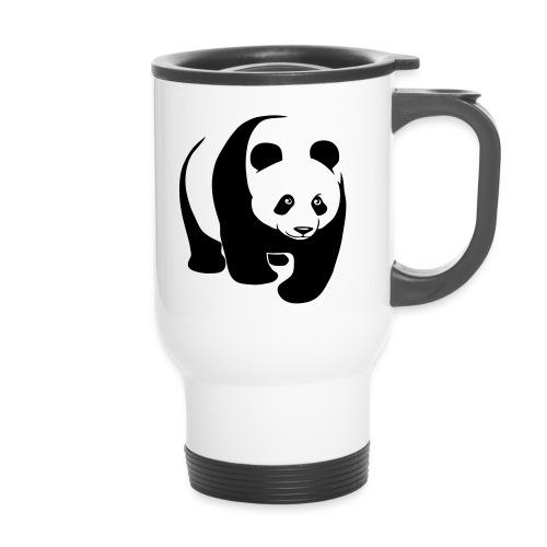 tier t-shirt panda teddy bär bärchen süß niedlich gesicht - Thermobecher