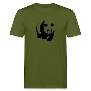 tier t-shirt panda teddy bär bärchen süß niedlich gesicht - Männer Bio-T-Shirt