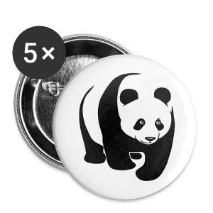 tier t-shirt panda teddy bär bärchen süß niedlich gesicht - Buttons groß 56 mm