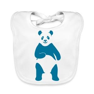 tier t-shirt panda teddy bär bärchen süß niedlich gesicht - Baby Bio-Lätzchen