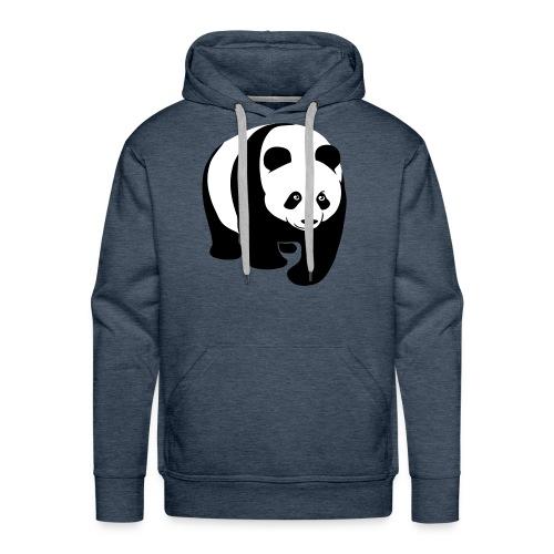 tier t-shirt panda teddy bär bärchen süß niedlich gesicht - Männer Premium Hoodie