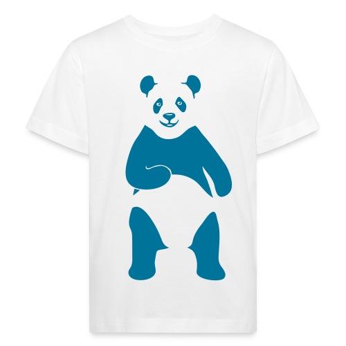 tier t-shirt panda teddy bär bärchen süß niedlich gesicht - Kinder Bio-T-Shirt