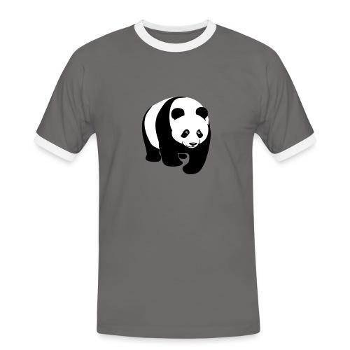 tier t-shirt panda teddy bär bärchen süß niedlich gesicht - Männer Kontrast-T-Shirt