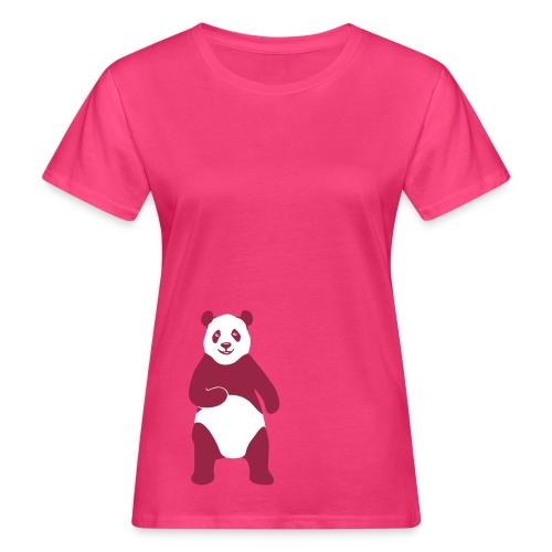 tier t-shirt panda teddy bär bärchen süß niedlich gesicht - Frauen Bio-T-Shirt