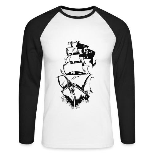 GPS ship langermet t-skjorte - Langermet baseball-skjorte for menn