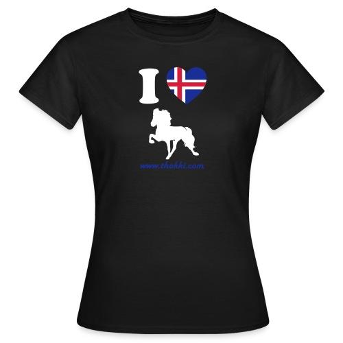 Damenshirt I love Tölt schwarz - Frauen T-Shirt