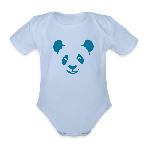 tier t-shirt panda teddy bär bärchen süß niedlich gesicht - Baby Bio-Kurzarm-Body