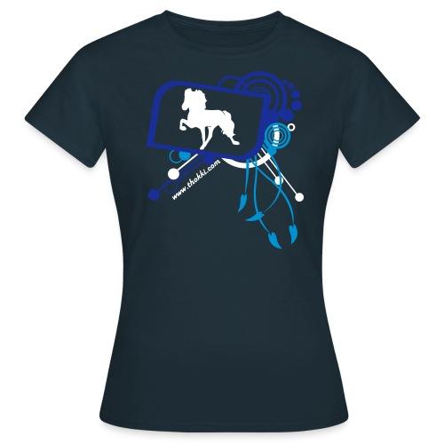 Damenshirt Töltaholic navy - Frauen T-Shirt