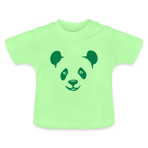 tier t-shirt panda teddy bär bärchen süß niedlich gesicht - Baby T-Shirt