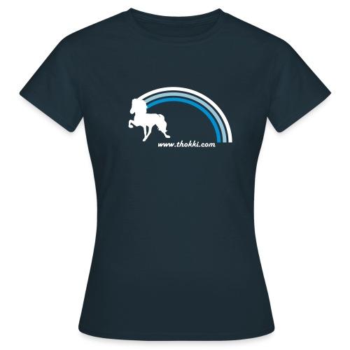 Damenshirt Regenbogentölter navy - Frauen T-Shirt