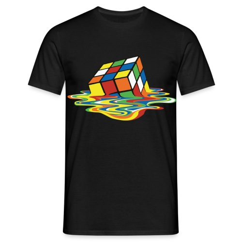 Melting Cube - Men's T-Shirt