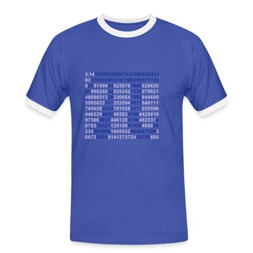 Pi - Kontrast-T-skjorte for menn
