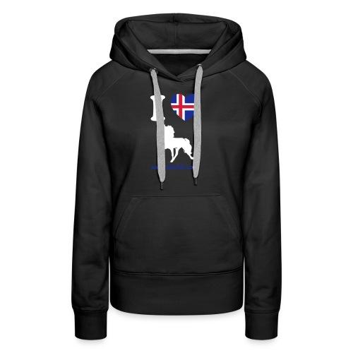 Damensweater I love Tölt - Frauen Premium Hoodie