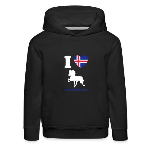Kindersweater I love Tölt - Kinder Premium Hoodie