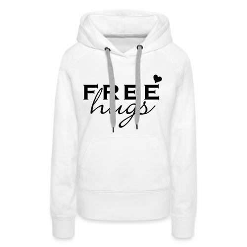 Vrouwen sweater 'Free hugs' - Vrouwen Premium hoodie