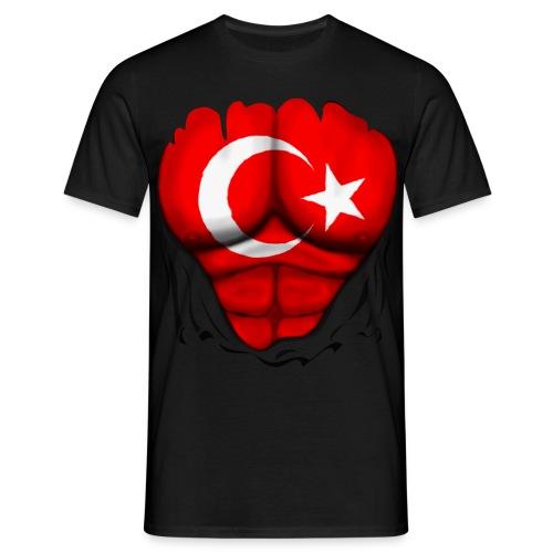 Mannen T-shirt - yildiz,turkce,turk,t-shirt,siyah,six,shirt vlag,pack,modelleri,model,hilal,flag,bayrakli,bayrak,bayragi,baklava,ayyildiz,ay