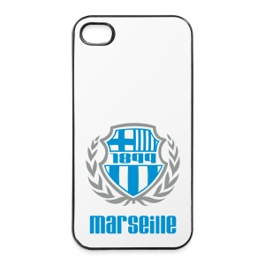Coque rigide iPhone 4/4s - Ballon,Foot,Marseille,OM,Provence,Supporter,Ultra