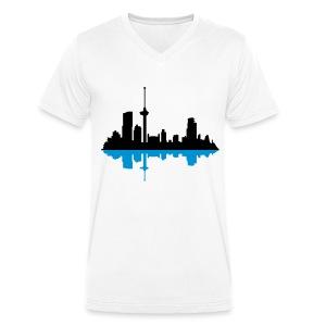 Skyline Rotterdam (MEN) - Mannen bio T-shirt met V-hals van Stanley & Stella