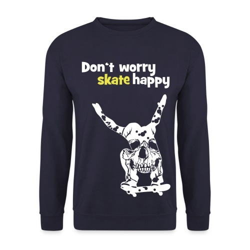 K-Skate: Dont worry skate happy - Men's Sweatshirt