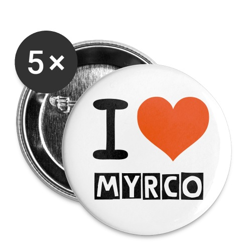 Button I Love Myrco - Buttons middel 32 mm