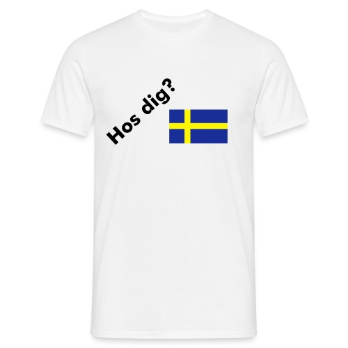 Hos dig? (Your Place?) - T-shirt herr