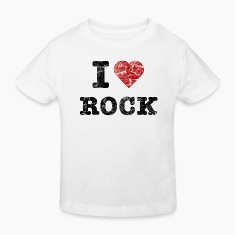 """I Love Rock"" vintage dark Shirts"