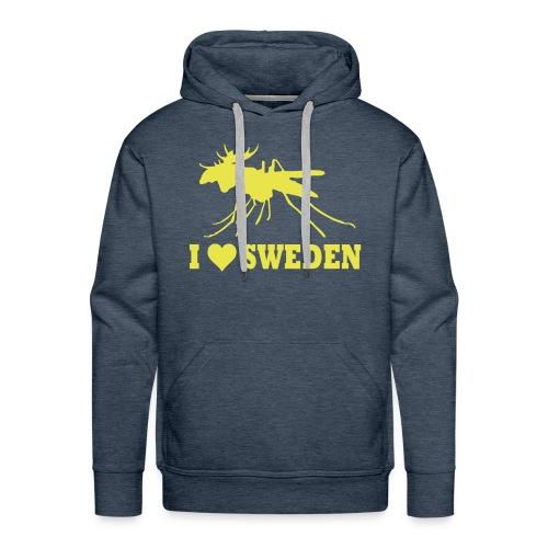 I love Sweden - Männer Premium Hoodie