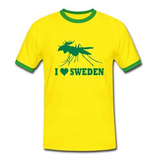 I love Sweden - Männer Kontrast-T-Shirt