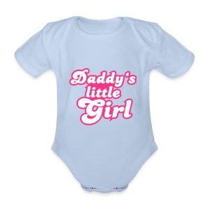Baby Girls One-piece 'Daddy's Little Girl' - Organic Short-sleeved Baby Bodysuit