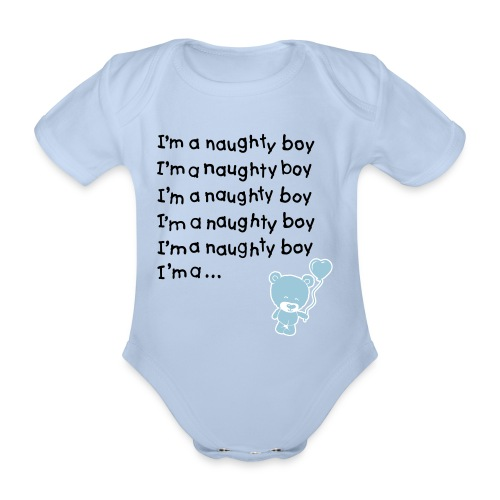 Babies Boys - Baby Grow 'Im a Naughty Boy' (Baby One-piece) - Organic Short-sleeved Baby Bodysuit