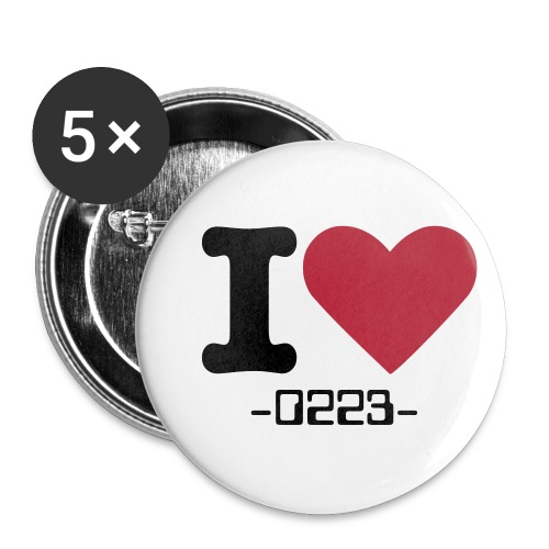 I Love -0223- button - Buttons small 1''/25 mm (5-pack)