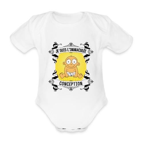 Immaculée_conception_bébé_nouveau-né - Body bébé bio manches courtes