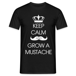 Keep Calm Grow A Mustache - T-shirt herr