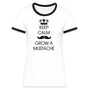 T-shirt - Kontrast-T-shirt dam