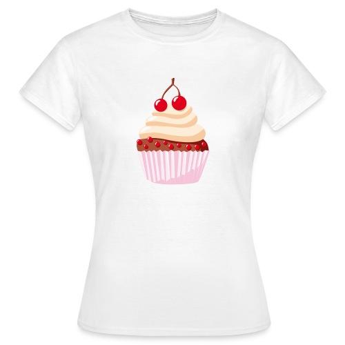 T-Shirt mit Törtchen - weiß - Frauen T-Shirt