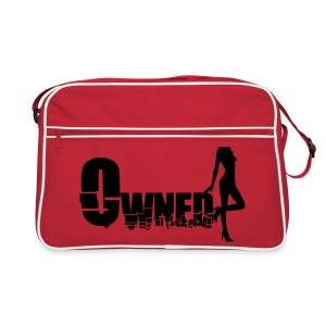 Mens Red and White side bag with Zip Compartment - Retro Bag