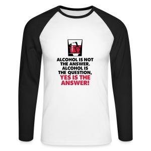 Men's Long Sleeve Baseball T-Shirt - birthday,drinking,fun,gift,joke,mens,present,pub,quality,t-shirt