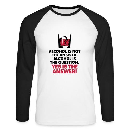 Men's Long Sleeve Baseball T-Shirt - t-shirt,quality,pub,present,mens,joke,gift,fun,drinking,birthday