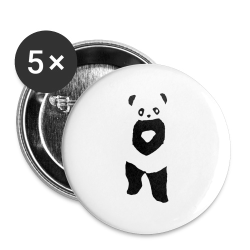 Panda badge - 5 pack - Buttons/Badges mellemstor, 32 mm (5-pack)